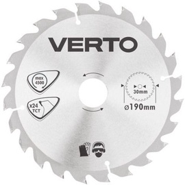 Verto Circular Saw Blade 190x30mm 24T