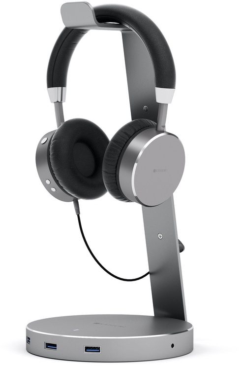 Ausinės Satechi ST-AHPM Bluetooth Headphones Space Gray