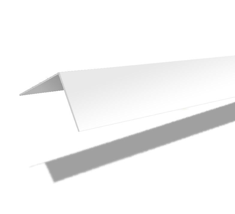 Universālā PVC līste C15 15x15x2700mm, balta