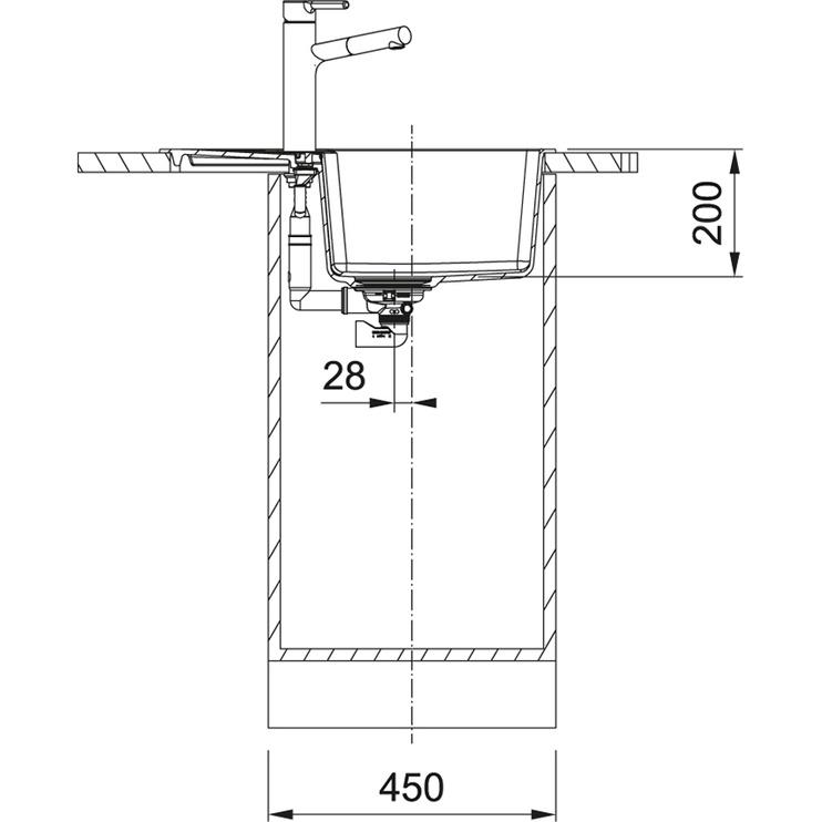 Раковина Franke 114.0625.620, 620 мм x 500 мм x 200 мм