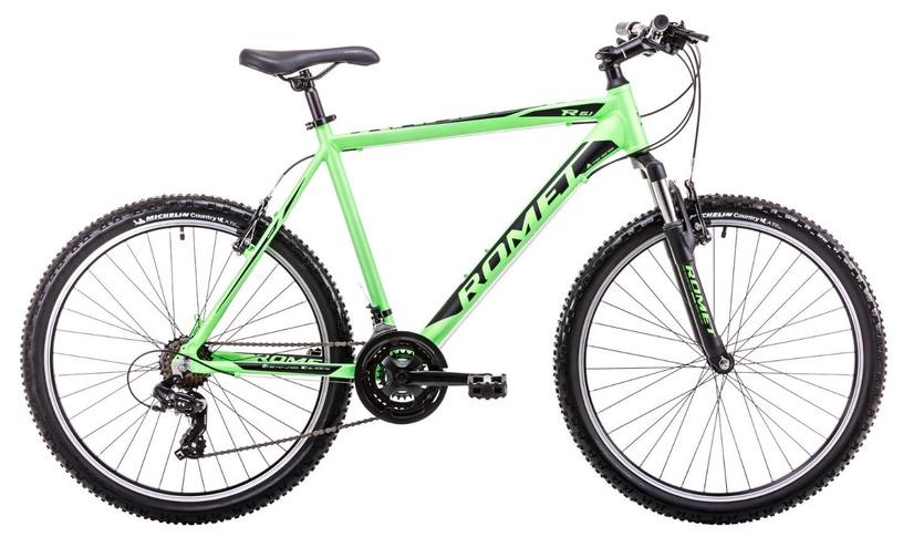 """Dviratis Romet Rambler R6.1 21"""" 26"""" Green Black 19"""