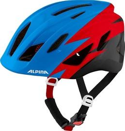 Šalmas Alpina Pico 9761 1 81, mėlynas/juodas/raudonas, 500 - 550 mm