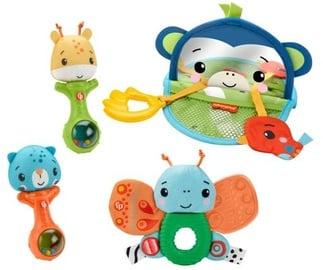Погремушка Fisher Price Hello Senses Play Kit, многоцветный, 4 шт.