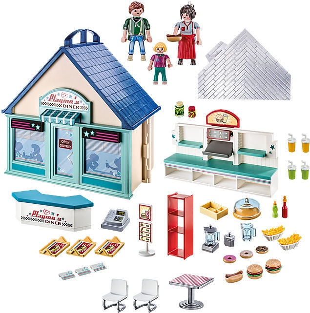 Konstruktorius Playmobil City Life Take Along Diner 70111
