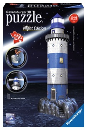 3D dėlionė Ravensburger Lighthouse Night Edition 12577, 216 dalių