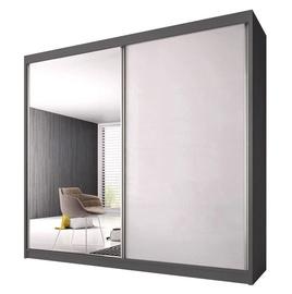 Idzczak Meble Pro Polysk Wardrobe 183cm Graphite/White Gloss