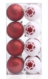 Eglutės žaisliukas DecoKing Cherry White/Red, 16 vnt.