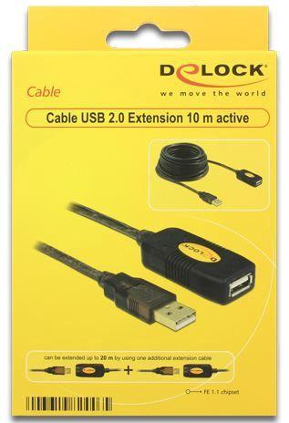 Delock Cable USB / USB Black 10m