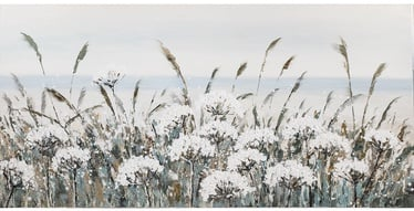 Home4you Oil Painting 70x140cm White Flowers
