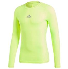 Adidas Alphaskin Sport Long Sleeve Top CW9509 Yellow XL