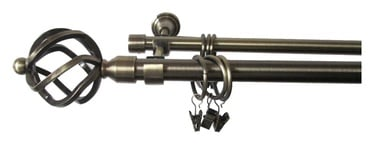 Dvigubo karnizo komplektas Futura F512005, 180 cm, Ø 19 mm