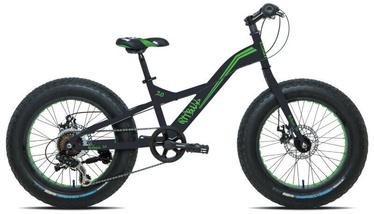 "Jalgratas Esperia Fat Bike 9020, must/roheline, 20"", 20"""