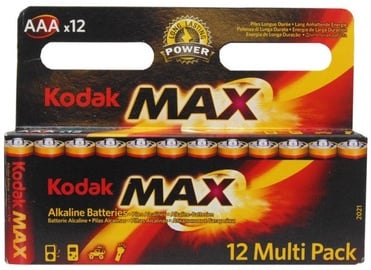 Kodak LR03-12BB AAA Max Batteries 12x
