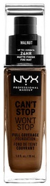 NYX Can't Stop Won't Stop Full Coverage Foundation 30ml Walnut