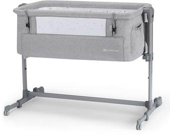 KinderKraft Neste Up Bedside Crib Light Grey Melange