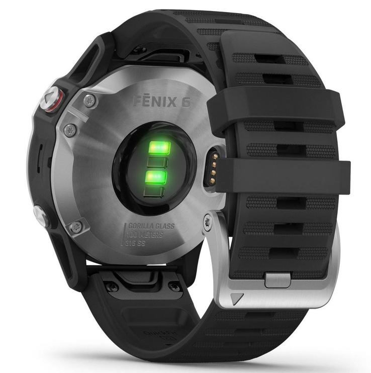 Išmanusis laikrodis Garmin Fenix 6S Silver with Black Band