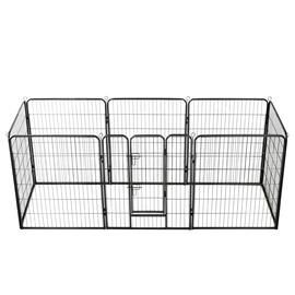 Kaitse VLX Dog Playpen 8 Panels Black, 2400x800x1000 mm