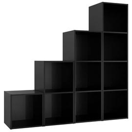 Полка VLX TV Cabinet Set High Gloss, черный, 72 см x 35 см x 36.5 см