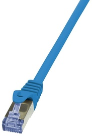 LogiLink CAT 6a S/FTP Cable Blue 0.5 m