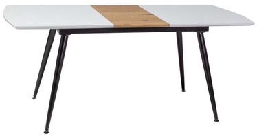Signal Meble Dining Table Davos White/Oak/Black 140x80cm