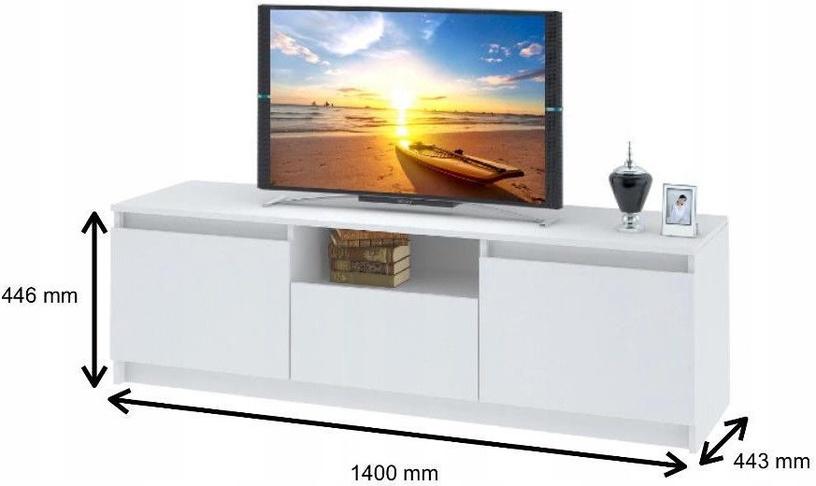 TV staliukas Tuckano Mars, baltas, 1400x440x440 mm