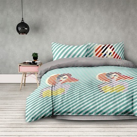 AmeliaHome Basic Retro Girl Bedding Set 140x200/70x90