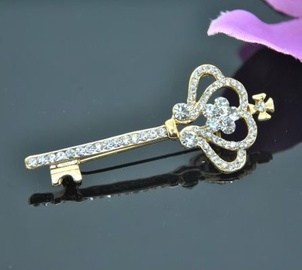 Vincento Brooch With Zirconium Crystal LD-1048