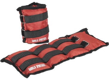 Gorilla Sports Wrist/Ankle Weights 2x1.5kg Red