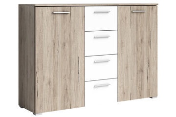 Helvetia Beta Chest Of Drawers Oak/White