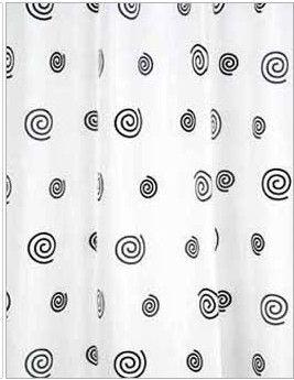 Vannas istabas aizkars Ridder Snail 403130, balta/pelēka, 2000 mm x 1800 mm