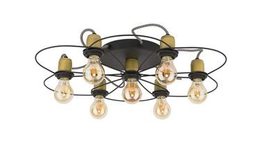 TK Lighting Fiore 1262 7X60W E27 Black/Gold
