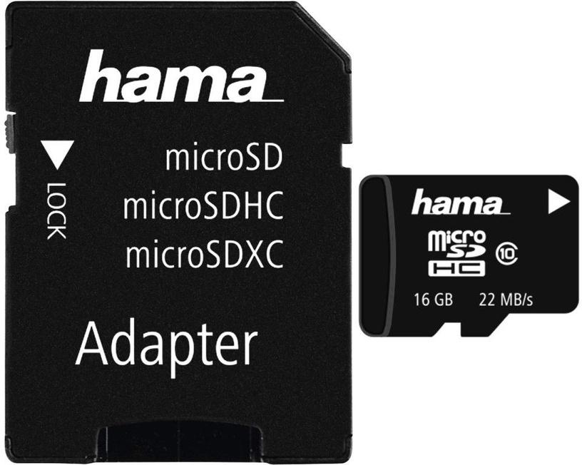 Hama 32GB microSDHC Class 10 + SD Adapter 108086