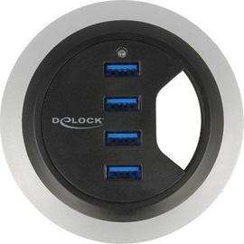 Delock USB 3.0 4-Port In-Desk 60/80 mm Hub