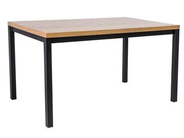 Signal Meble Normano Oak Table 150x80cm Oak/Black