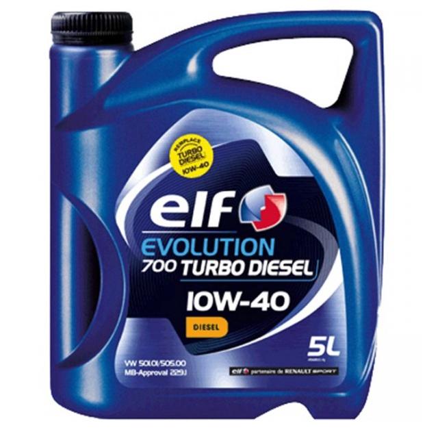 Mootoriõli Elf Evolution 700 Turbo Diesel 10W/40 Engine Oil 5l