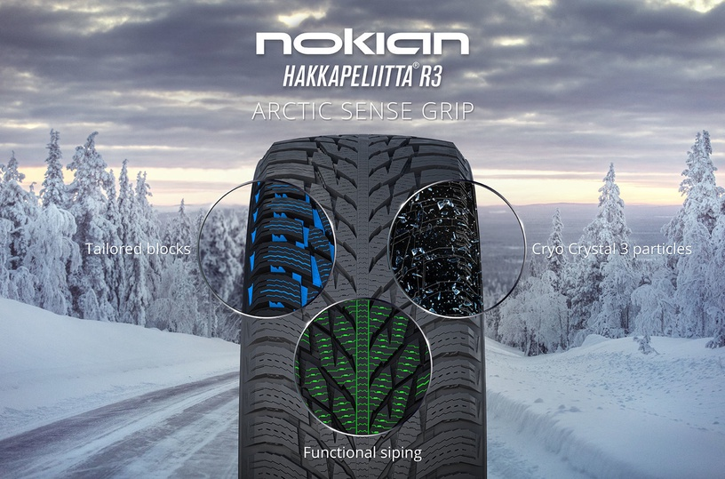 Automobilio padanga Nokian Hakkapeliitta R3 245 40 R19 98T XL