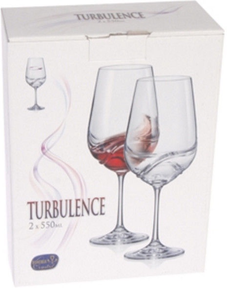 Bohemia Turbulence Wine Glass Set 2pcs 55cl