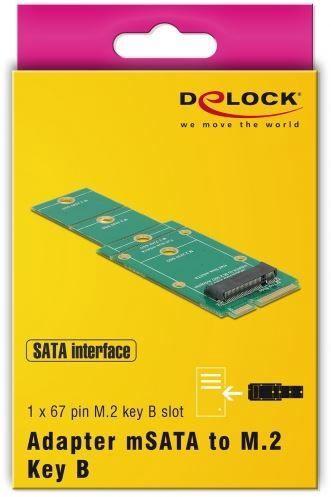 Delock Adapter M.2 To mSATA