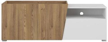 Black Red White TV Cabinet Rauma Sable Wood/White