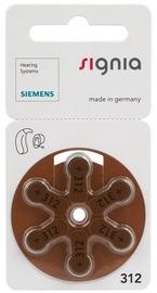 Siemens Signia A312 Hearing Aid Batteries 6x