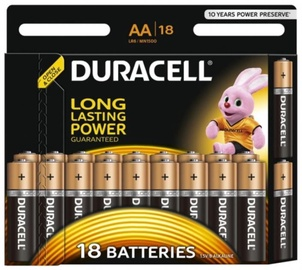 Duracell Alkaline Battery AA 18pcs