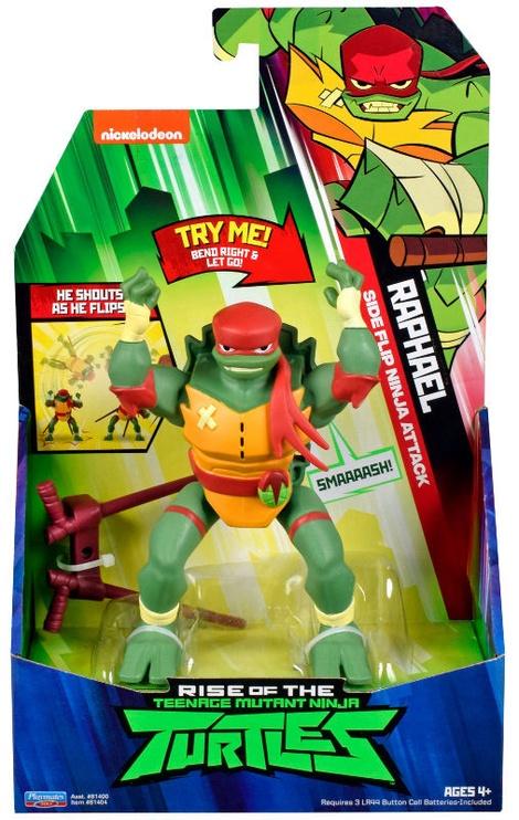 Фигурка-игрушка Playmates Toys Teenage Mutant Ninja Turtles Raphael SideFlip Ninja Attack 81404