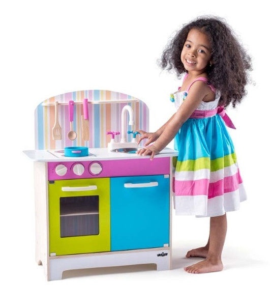 Woodyland Playing Colored Kitchen 91875