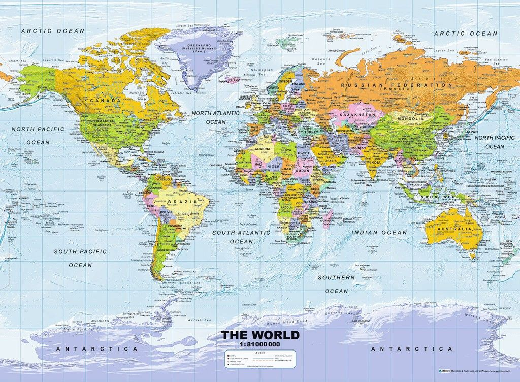 Image Map Of The World.Ravensburger Puzzle Political Map Of The World 500pcs