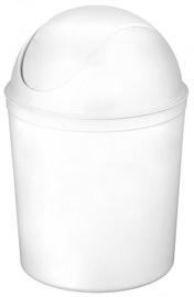 Plast Team Swing Round Waste Basket 21.3x21.3x31.5cm 5l White