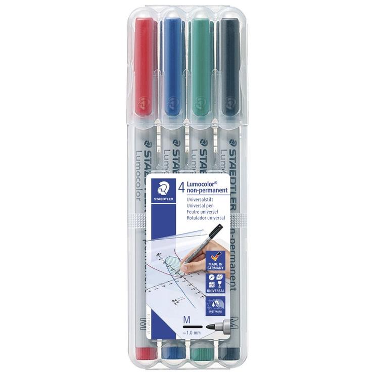 Veekindel marker, sinine/must/punane/roheline