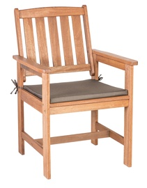 Home4you Woody Padded Garden Chair Meranti