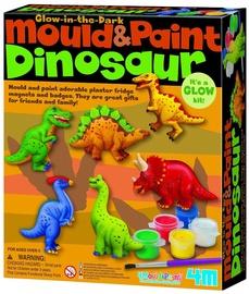 Ģipša figūru veidošanas komplekts 4M Mould & Paint Dinosaur 00-03514