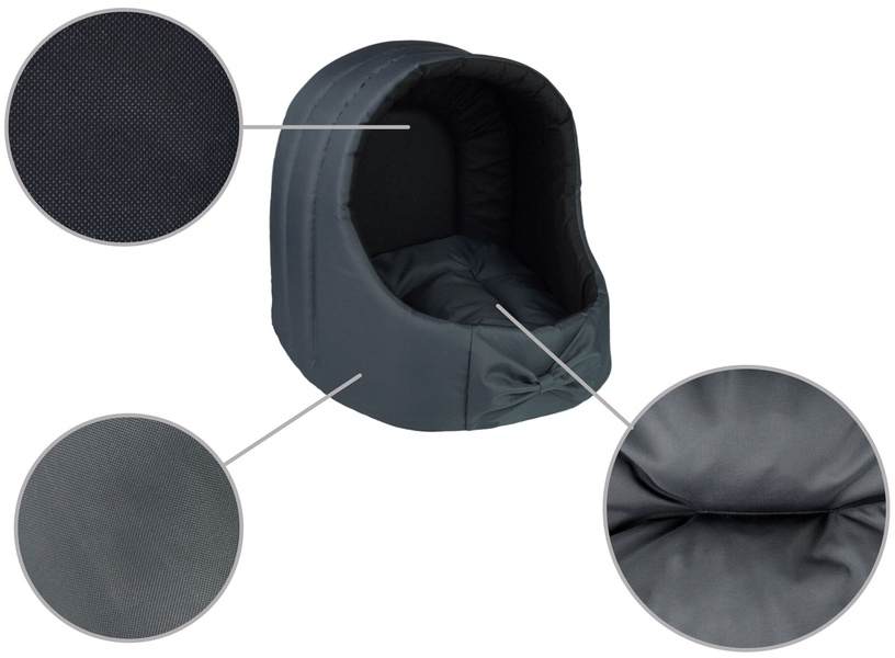 Amiplay Basic Oval Dog House L 44x44x46cm Graphite