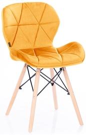 Стул для столовой Homede Silla Velvet Yellow, 4 шт.